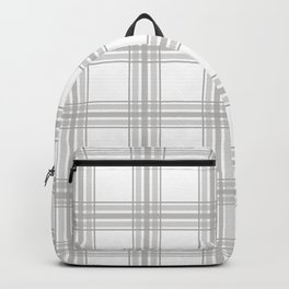 Farmhouse Plaid in Gray and White Backpack