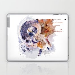 Bighorn Sheep watercolor portrait Laptop & iPad Skin