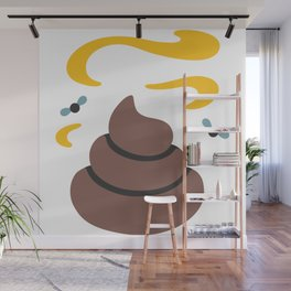 Poop Flies Wall Mural