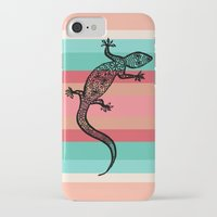 southwest iPhone & iPod Cases featuring Southwest Gecko by Lisa Argyropoulos