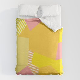 Peachy to the Max Duvet Cover