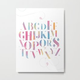 Alphabet, Nursery Print Metal Print