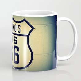 Historic U.S. old Route 66 sign in Illinois. Coffee Mug
