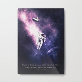 Neil Armstrong  Quotes Metal Print