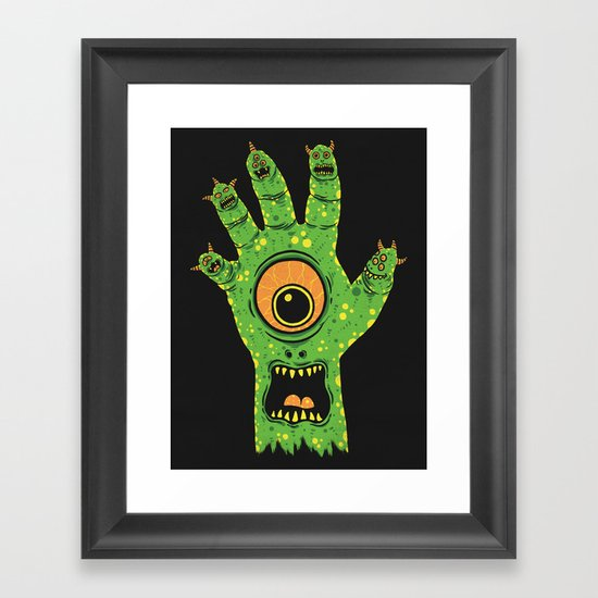 Finger Monsters Framed Art Print
