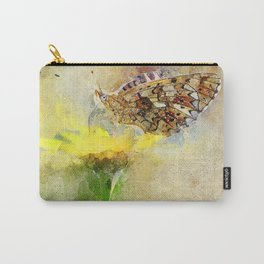 "Orange butterfly ""Boloria selene"" Carry-All Pouch"