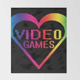 love video games Throw Blanket