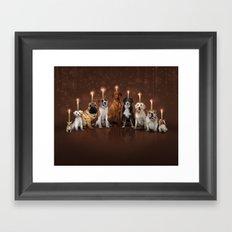 Hot Dog, It's Hanukkah! Framed Art Print