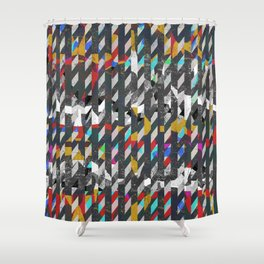 Colorful noise Shower Curtain