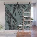 Black Palm Leaves Dream #4 #tropical #decor #art #society6 by anitabellajantzart