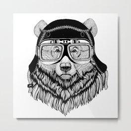 Grizzly Bear Speed Rebel Metal Print