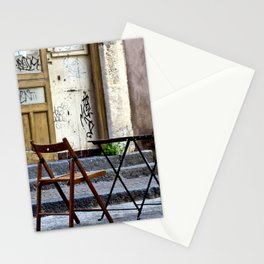 Coffee time in Catania on the Isle of Sicily Stationery Cards