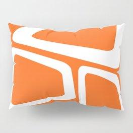 Mid Century In Burnt Orange Pillow Sham