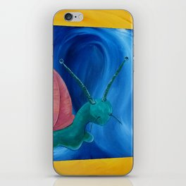 psychedelic snail iPhone Skin