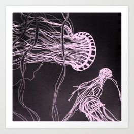 Jelly Swim Art Print