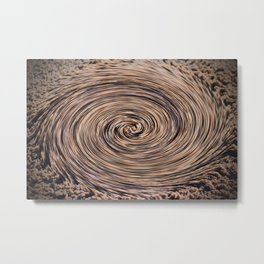 Swirling Sand Metal Print