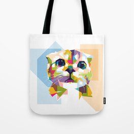 Little colorful cat Tote Bag