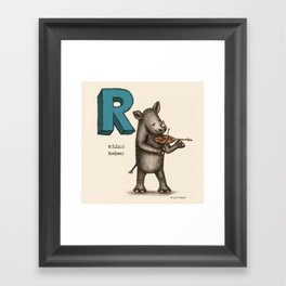 Animals & Instruments ABCs – R (2) Framed Art Print
