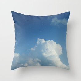 Cumulonimbus Clouds and Stars Throw Pillow