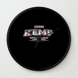 Team KEMP Family Surname Last Name Member Wall Clock