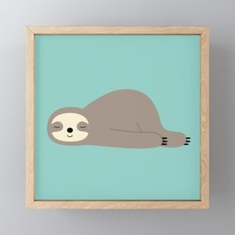 Do Nothing Framed Mini Art Print