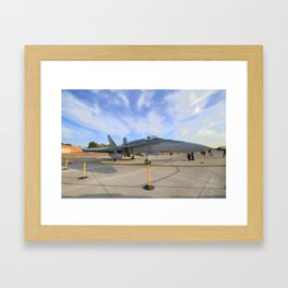 FA-18 on display  Framed Art Print
