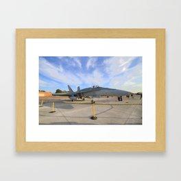 FA-18 on display  Framed Art Print