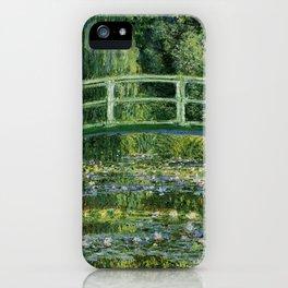 Water Lilies and Japanese Footbridge, Claude Monet iPhone Case