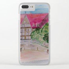 Rathaus der Stadt Bobingen Aquarell Clear iPhone Case
