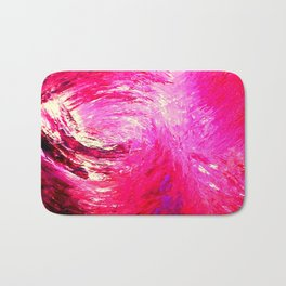 Abstract Crimson Storm by Robert S. Lee Bath Mat