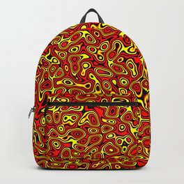 Abstract fractal gold red marbleized psychedelic plasma Backpack