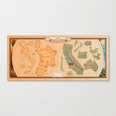 World of Wine Map Canvas Print