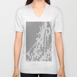 Screened Abstract Unisex V-Neck