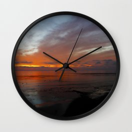 Ocean Orange Wall Clock