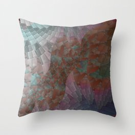Crushed Glass Throw Pillow