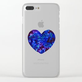 Space Heart Clear iPhone Case