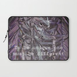 TO BE UNIQUE ONE MUST BE DIFFERENT Laptop Sleeve