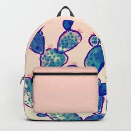 Blue cacti & sunset sky Backpack