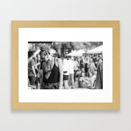 Asheville girl Framed Art Print