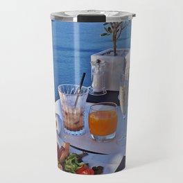 Oia, Santorini, Greece.. Breakfast with a View! Travel Mug