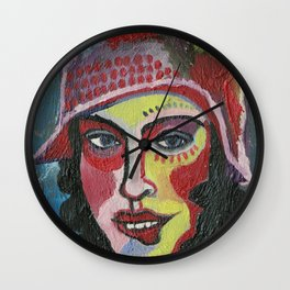 Woman with hat Wall Clock