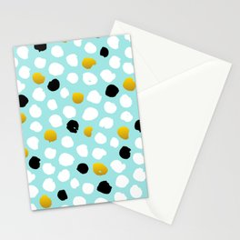 pois noirs blancs or Stationery Cards