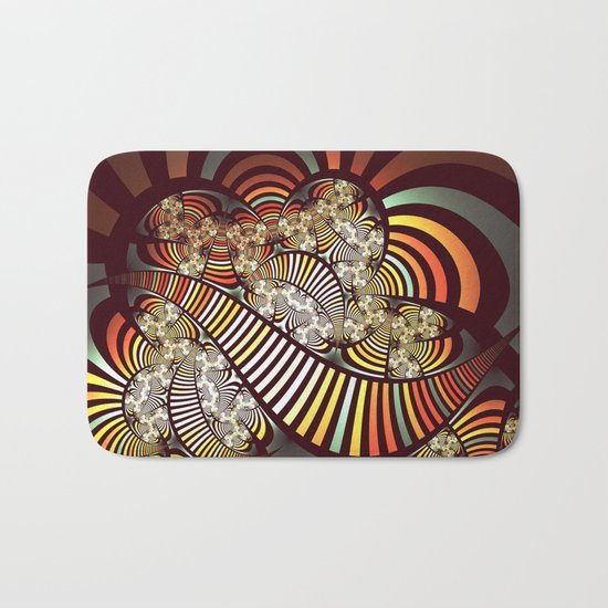 Vintage fractal 1 Bath Mat