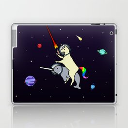 Llamacorn Riding Narwhal In Space Laptop & iPad Skin