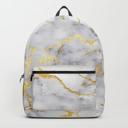 Gray And Gold Girly Marble  Backpack