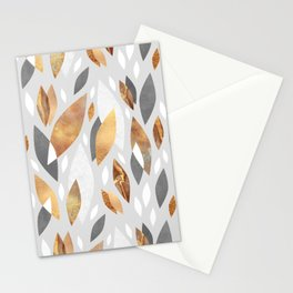 Falling Gold Leaves Stationery Cards