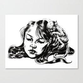 Hairpiece Canvas Print