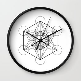 Metatron's Cube 2 Wall Clock