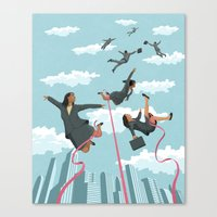 tape Canvas Prints featuring Pink Tape by John Holcroft