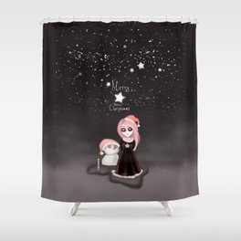 Black Xmas: A Merry Gothic Christmas Shower Curtain